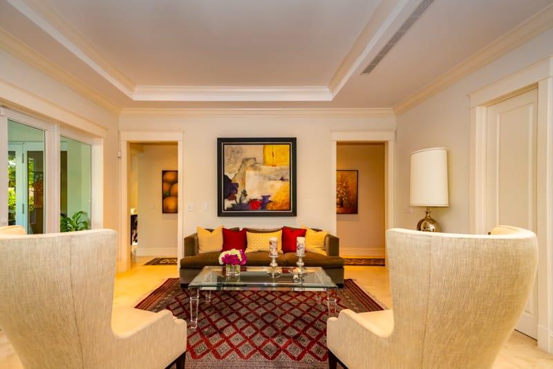 Single Family Home Sitting Area