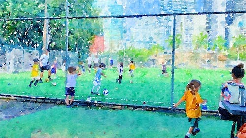 Adrian Soccer Pitch Watercolor